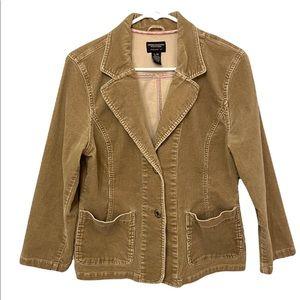 American Eagle Outfitters Women's Tan Corduroy Blazer L